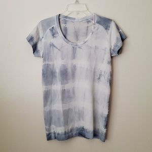 Lululemon Light Blue Tie Dye Tech Shirt Running 10